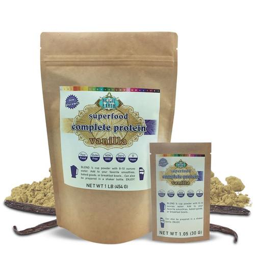 Superfood Vegan Protein Powder (Vanilla) 1lb and 1oz