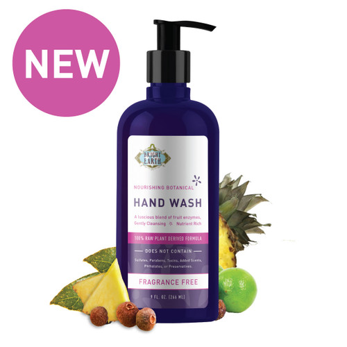 Botanical Hand Wash 9 fl oz, Raw, Vegan, and Chemical Free