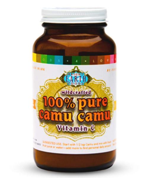 Organic Raw Camu Camu Berry Powder 4oz Amber Glass Jar