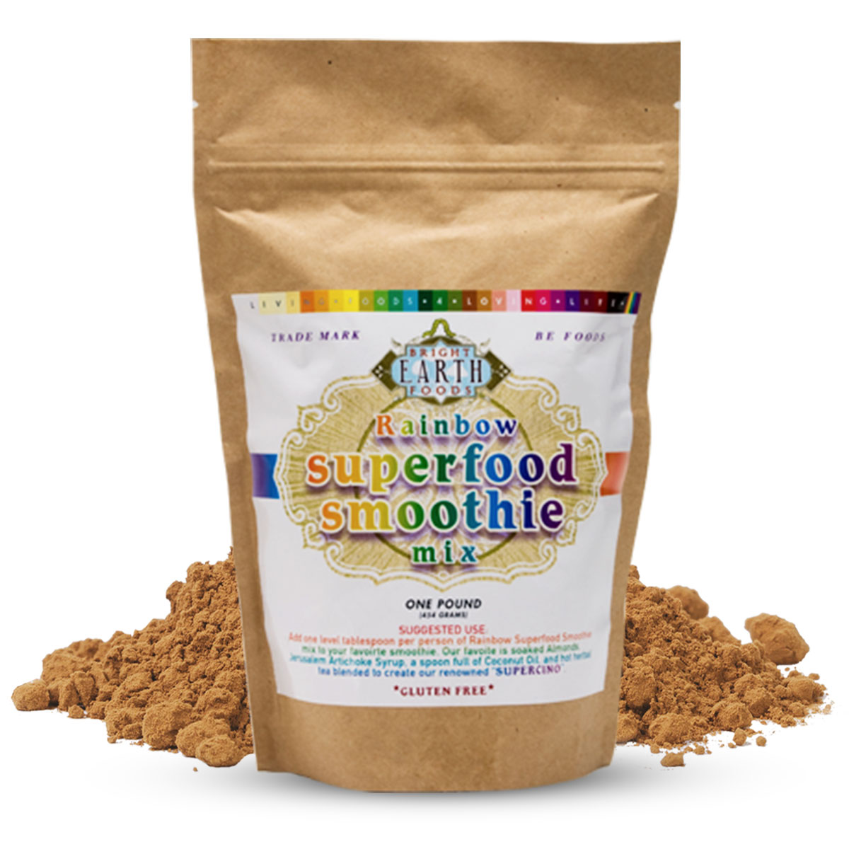 Organic Raw Vegan Rainbow Superfood Smoothie