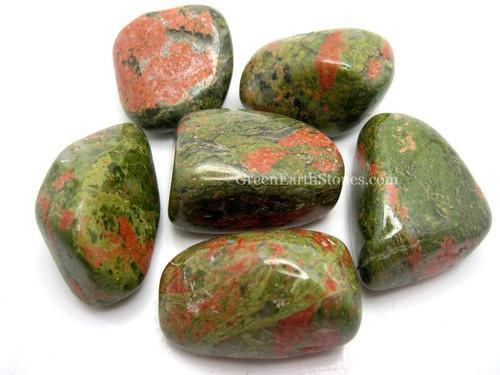 Unakite XL Tumbled Stone