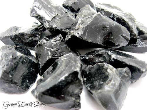 Black Obsidian Natural Stone