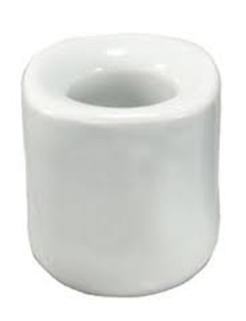 White Ceramic Chime Candle Holder