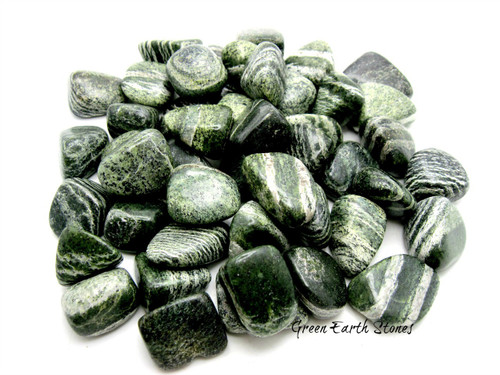 Zebra Jasper Green Tumbled Stone ONE