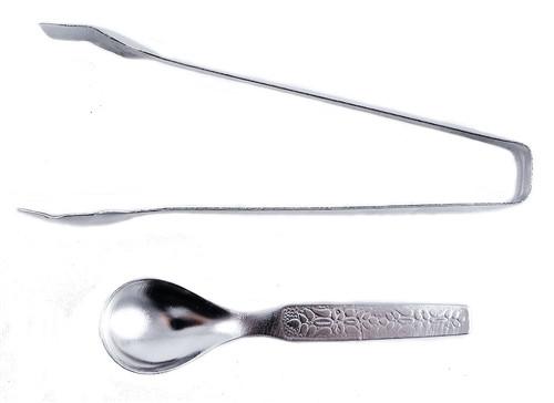 Metal Tong & Spoon Set