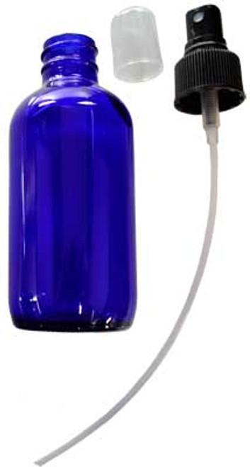 Blue Glass Bottle with Pump Spray 4oz