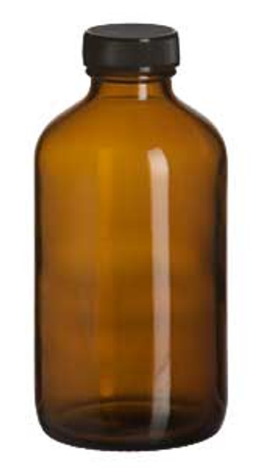 Amber Glass Bottle with Cap 16oz