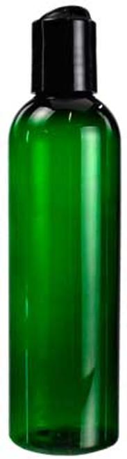 Green Plastic Bottle with Cap 4oz