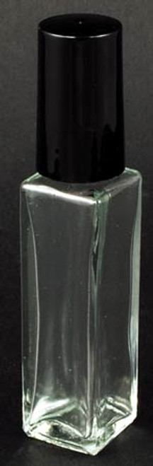 Clear Square Glass Bottle 2 Dram