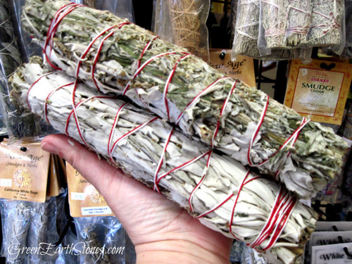 item shown on top is sage and mugwort - photo shown is example size.