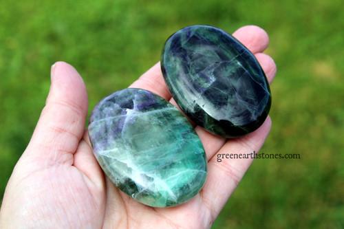 Fluorite Palm Stone XL