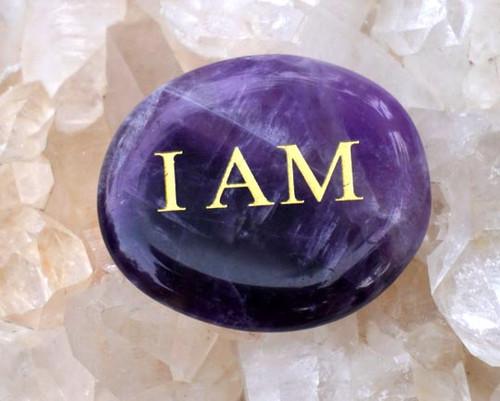 I AM Amethyst Palm Stone