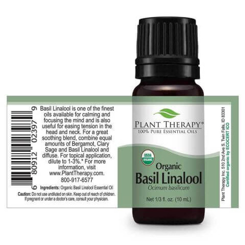 Basil Linalool Organic Essential Oil 10ml