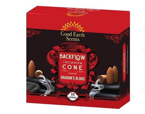 Dragons Blood Good Earth Back Flow Incense Cones