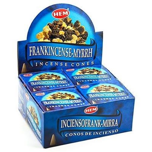 HEM Frankincense & Myrrh Incense Cones