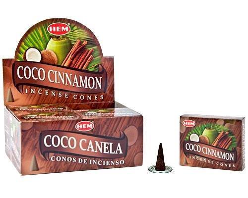 HEM Coco Cinnamon Incense Cones