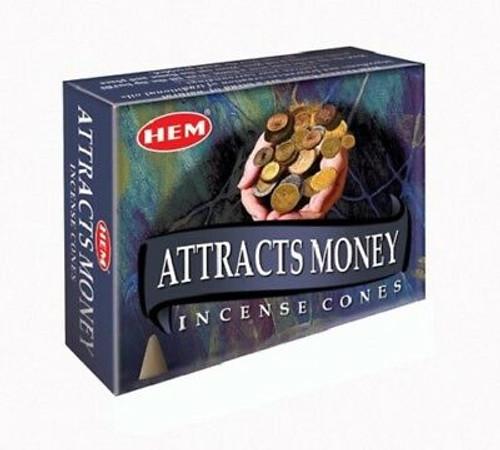 HEM Attracts Money Incense Cones