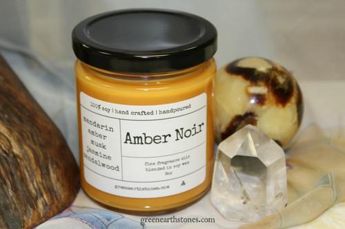 Amber Noir  8oz Soy Candle