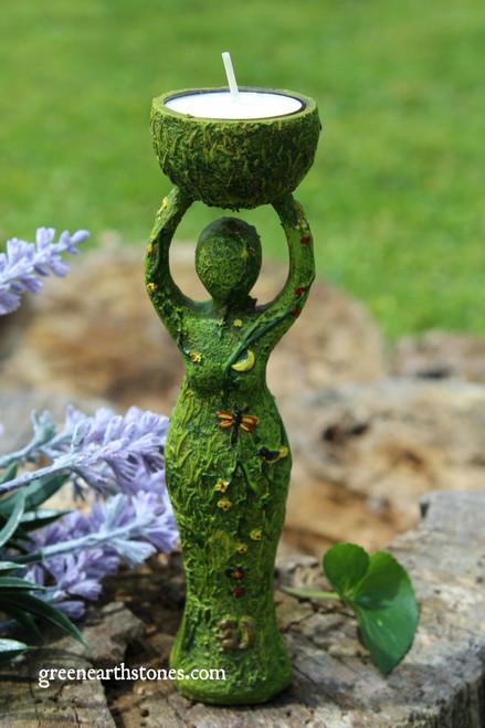 Nurturing Goddess Candle Holder Statue