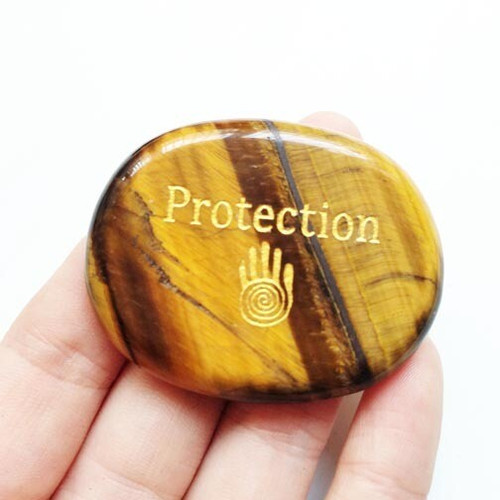 PROTECTION Tigers Eye Palm Stone
