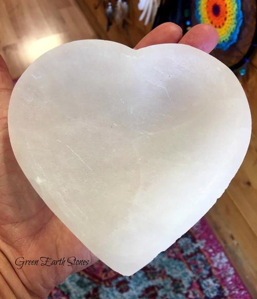 Selenite Carved Heart Bowl