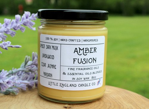 Amber Fusion 8oz Soy Candle