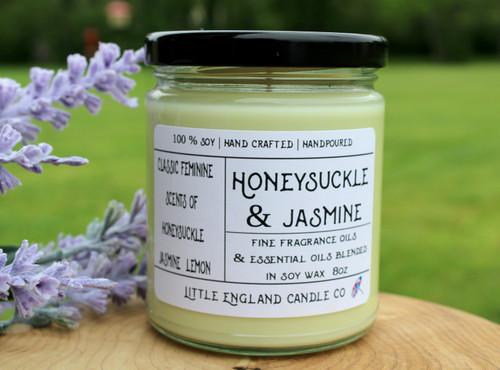 Honeysuckle & Jasmine 8oz Soy Candle