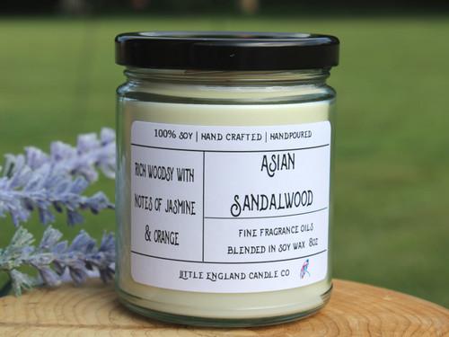 Asian Sandalwood 8oz Soy Candle