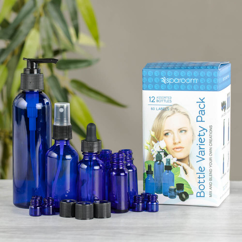 Blue Apothecary Bottles – Variety Pack