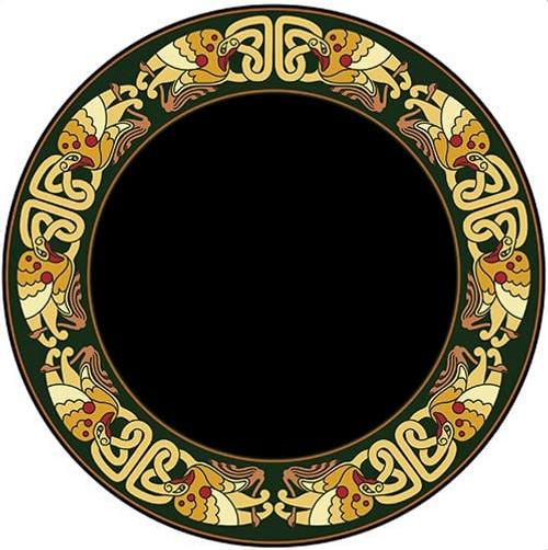 Scrying Mirror Celtic Birds