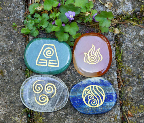 Four Elements Symbol Stone Set