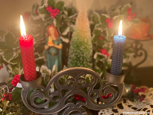 Yule Beeswax Candles