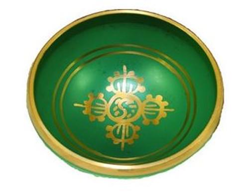Tibetan Singing Bowl Green