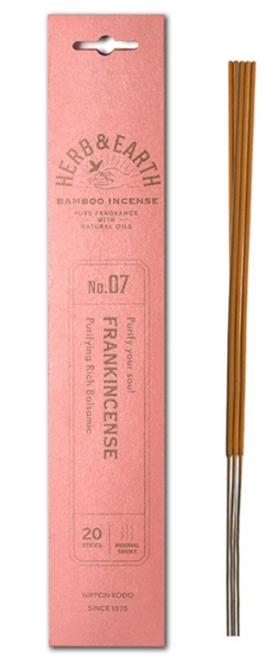 Herb & Earth FRANKINCENSE Bamboo Incense
