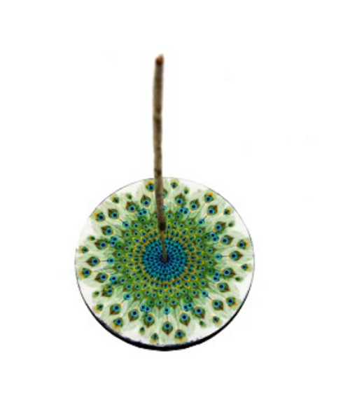 Peacock Feathers Incense Burner