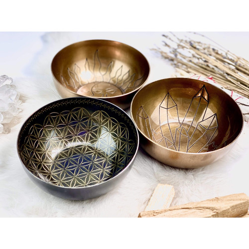 Offering Bowl Brass CRYSTALS