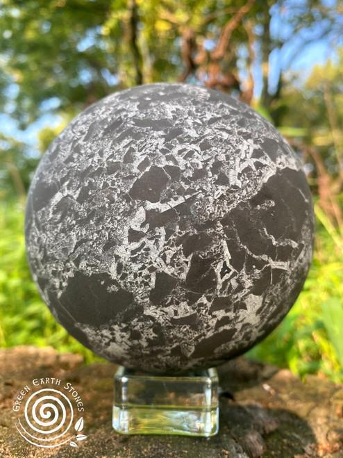 Shungite XXL Sphere with Quartz Markings