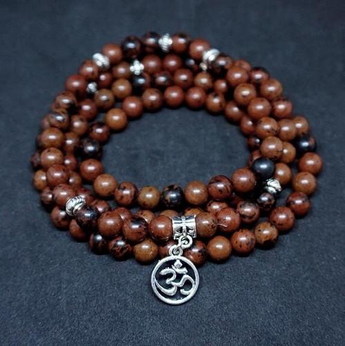 Prayer Beads Mahogony Obsidian