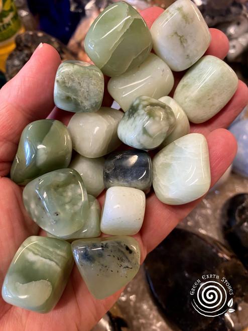 New Jade Tumbled Stone