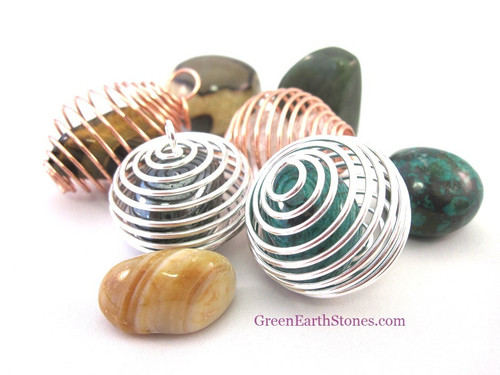 Great for holding tumbledstones and natural crystal pieces.
