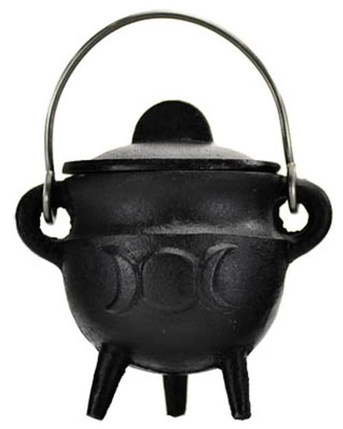Cauldron Triple Moon  Cast Iron