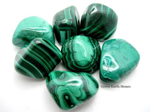 Malachite Tumbled Stone Premium