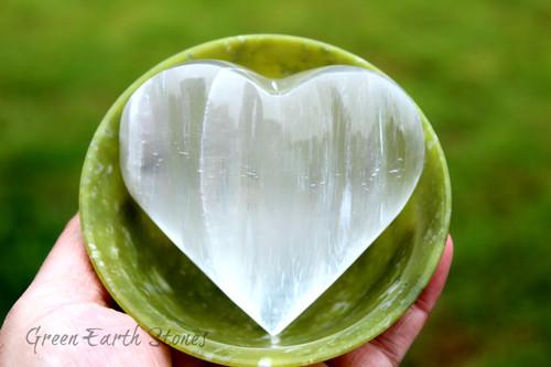 Selenite Carved Heart XL
