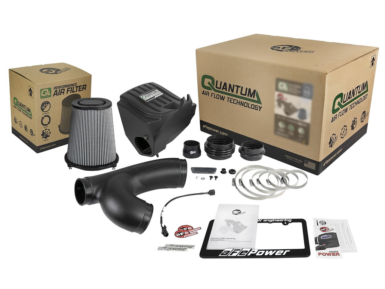 aFe 53-10008D Quantum Pro Dry S Cold Air Intake System For 15-18 Ford F150 EcoBoost V6-3.5L/2.7L