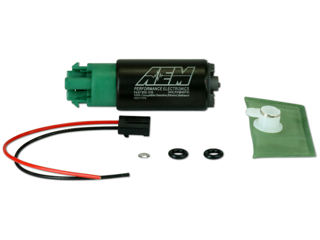 AEM 340lph E85 High Flow In-Tank Universal Fuel Pump w/ Hooks (50-1215)