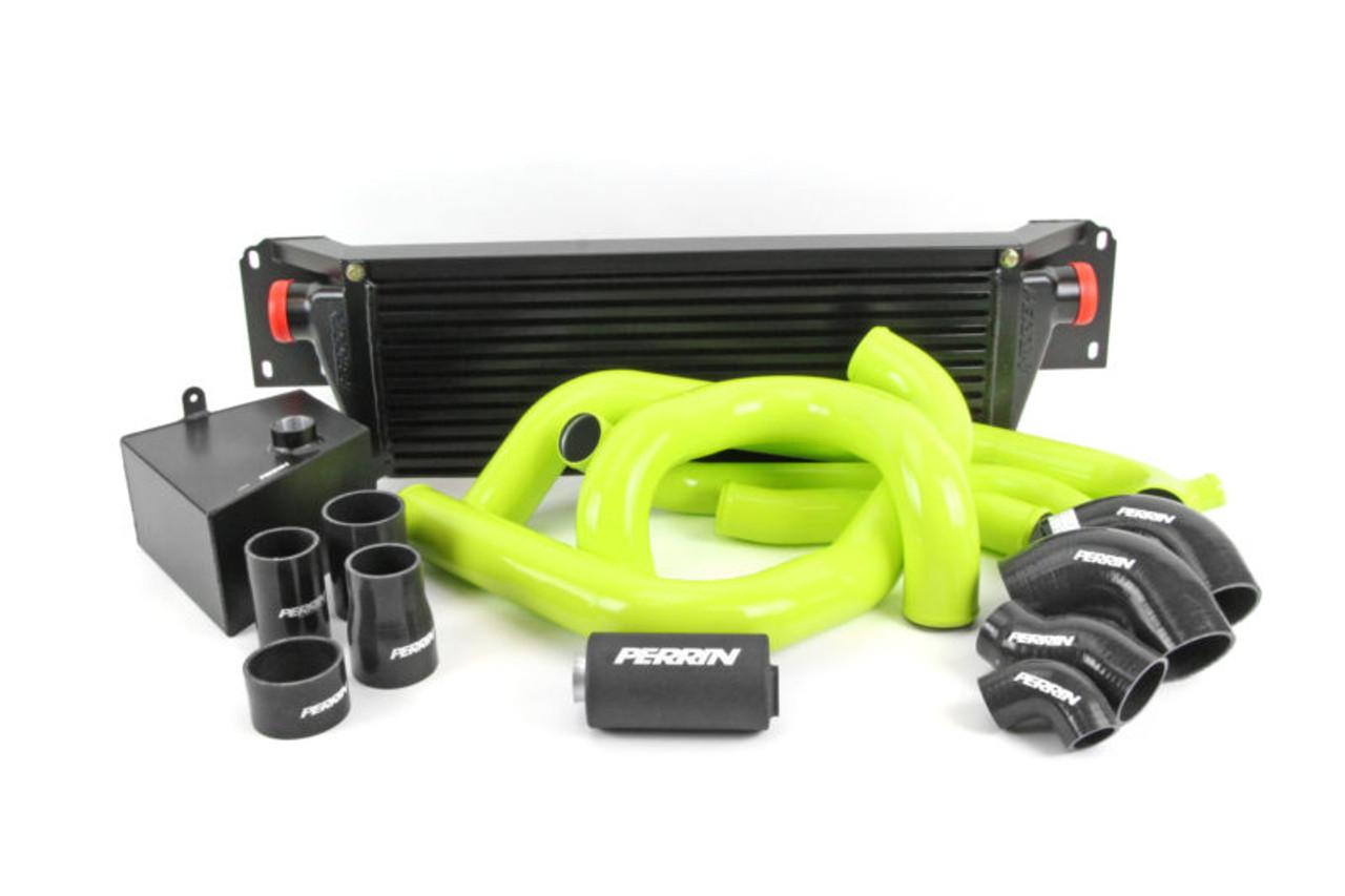 Perrin Front Mount Intercooler Kit (Black Core/ Neon Yellow Pipes) For 15-17 Subaru STI - PSP-ITR-KIT5-BKNY