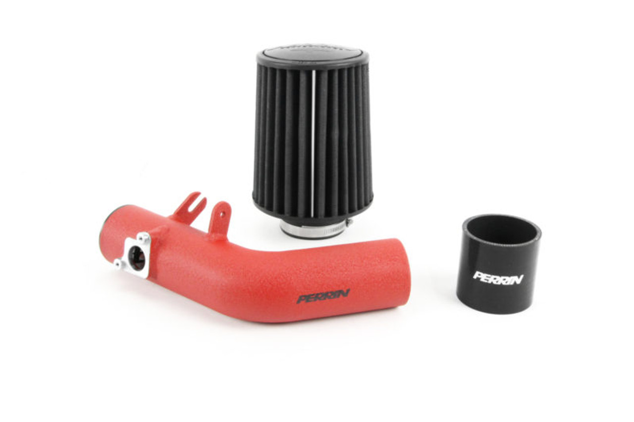 Perrin Front Mount Intercooler Kit (Silver Core/Red Pipes) For 18-20 Subaru STI - PSP-ITR-KIT6-SLRD