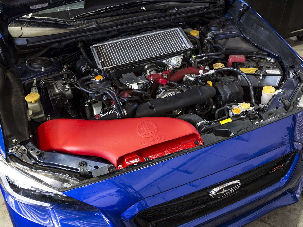 aFe Power TA-4306B-R Takeda Stage-2 Pro 5R Cold Air Intake System 15-17 Subaru WRX STI H4-2.5L
