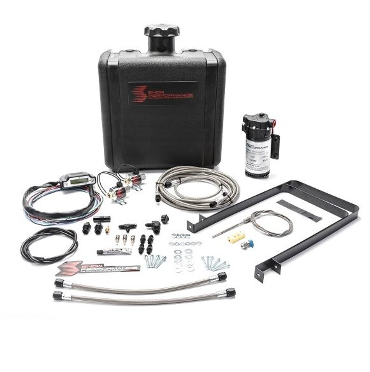 Snow Performance Diesel Stage 3 Boost Cooler Water-Methanol Injection Kit for Dodge Cummins 5.9L (Stainless Steel Braided Line & AN Fittings) (SNO-500-BRD)