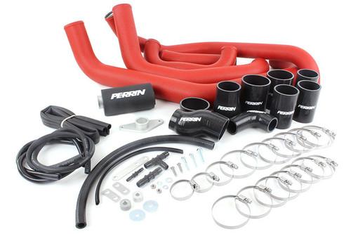 Perrin Boost Tube Kit (Red) For 2008-2014 Subaru STI (PSP-ITR-430-2RD/BK)